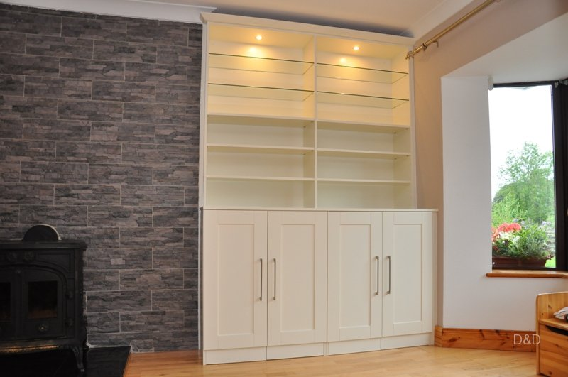 alcove-book-cabinet-painted-ivory-color-with-built-in-light