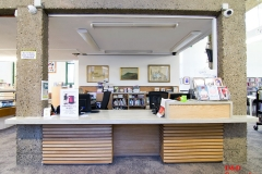 Bray library fit out reception desk and storage