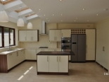 Cream Dark walnut Kitchen
