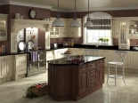 Prague plain cream dark walnut Kitchen