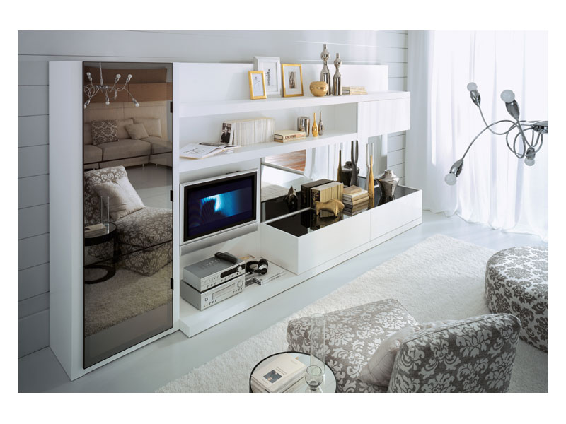 White Gloss Paint TV Cupboard
