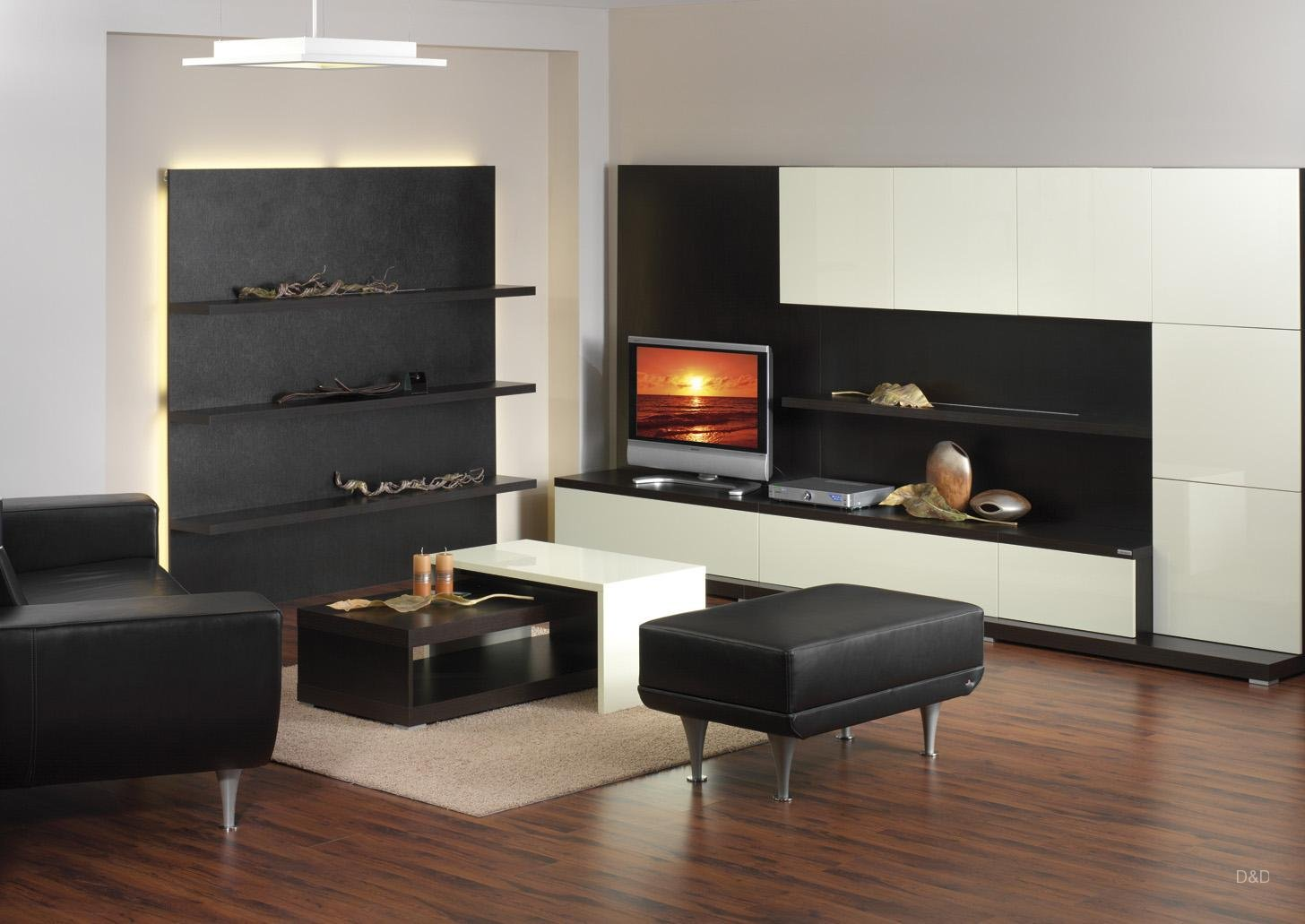 modern-black-ivory-gloss-tv-unit
