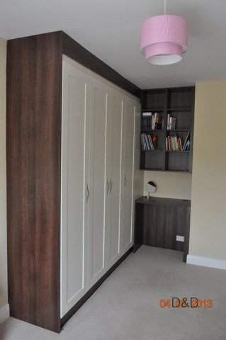 dark-walnut-wardrobe-with-ivory-shaker-doors-and-desk