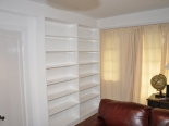solid pine painted shelving unit