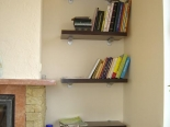solid dark walnut shelves