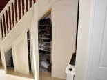Under stairs storage solution