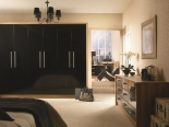 Black Gloss with Light  Tiepolo End Panels wardrobe