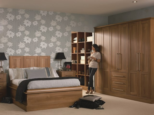 Medium Walnut wardrobe
